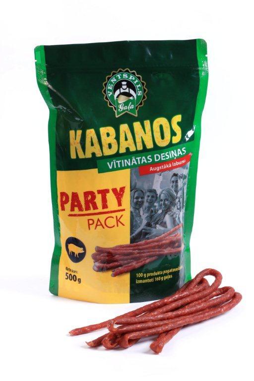 Ventspils gaļa Kabanos vītinātas desiņas Party pack